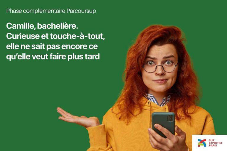 Camille, bachelière. BUT GACO Parcoursup